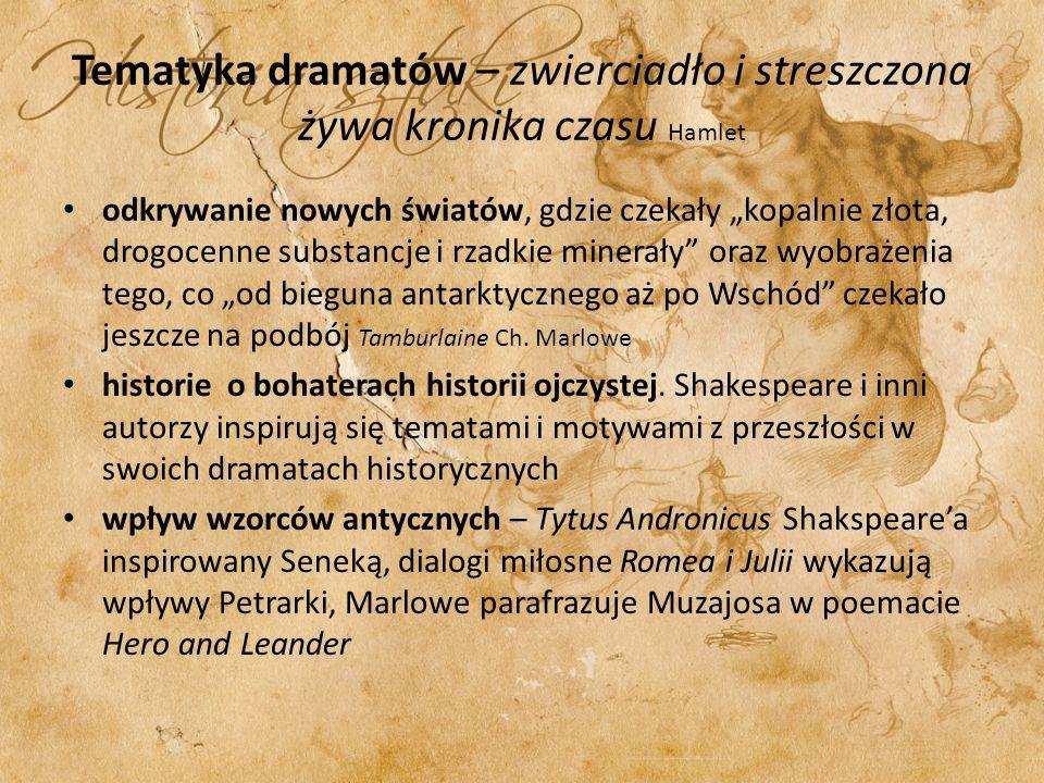 Tematyka dramatów – zwierciadło i streszczona żywa kronika czasu Hamlet