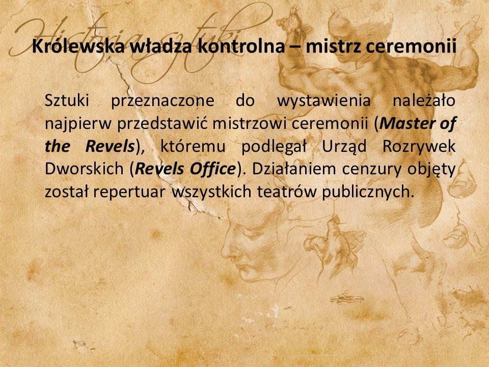 Królewska władza kontrolna – mistrz ceremonii