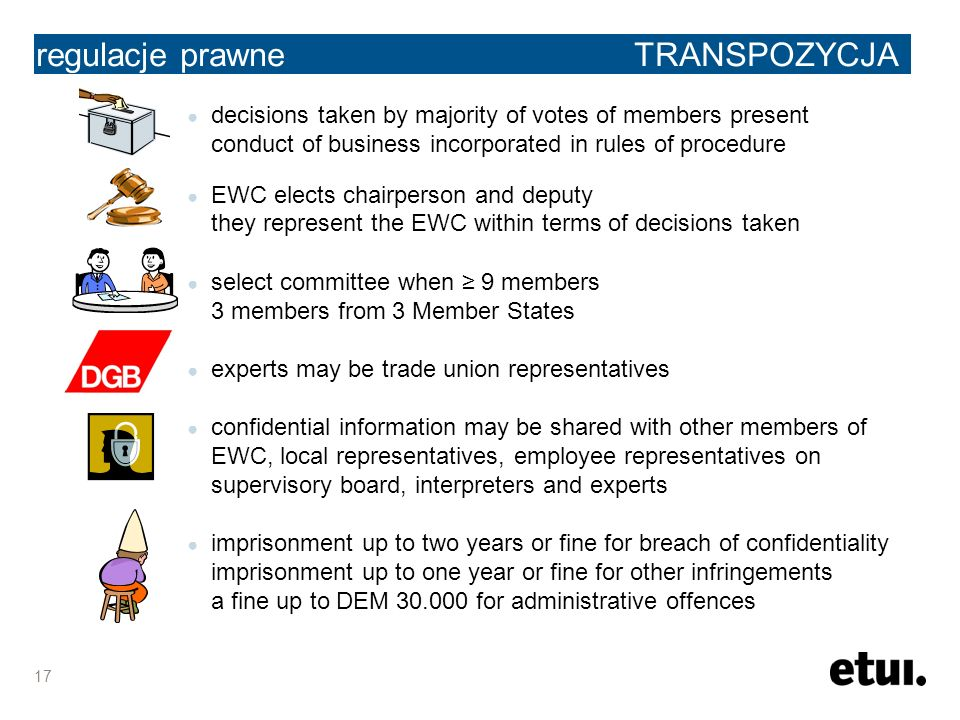 the legal framework regulacje prawne TRANSPOZYCJA