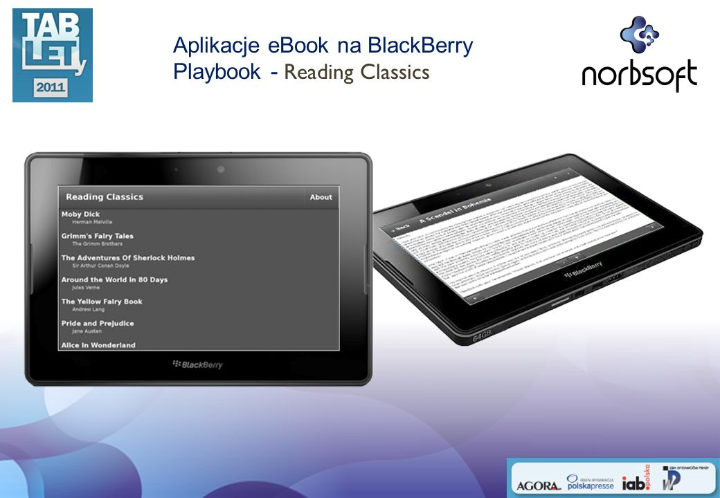 Aplikacje eBook na BlackBerry Playbook - Reading Classics