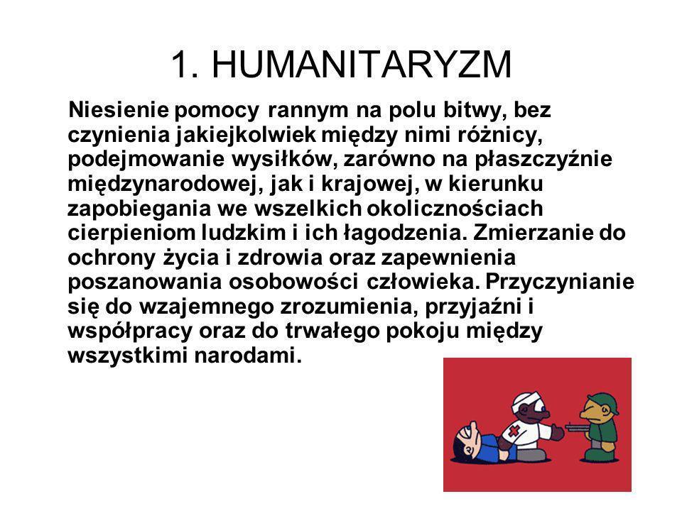 1. HUMANITARYZM