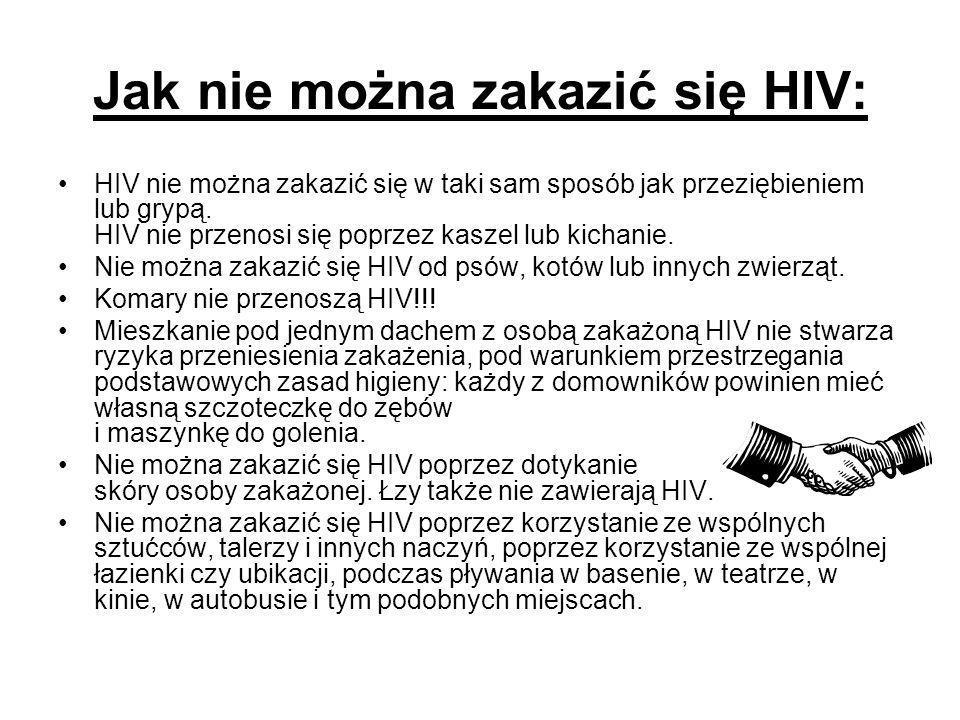 Jak nie można zakazić się HIV: