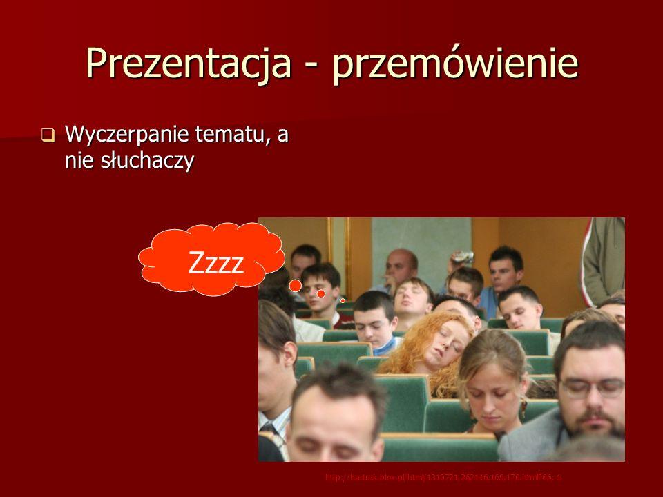 Prezentacja - przemówienie