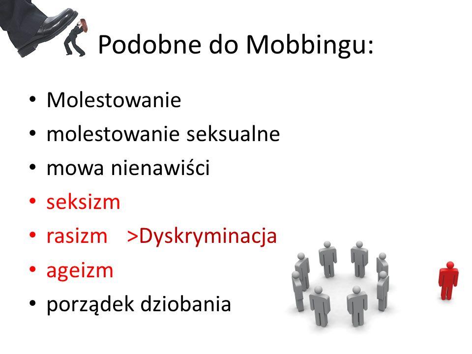 Podobne do Mobbingu: Molestowanie molestowanie seksualne