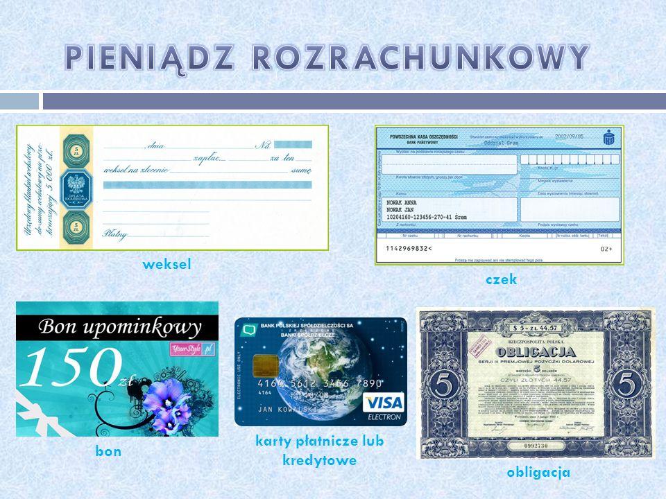 karty płatnicze lub kredytowe