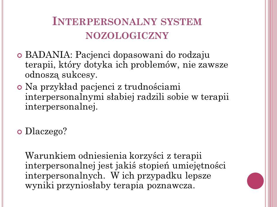 Interpersonalny system nozologiczny