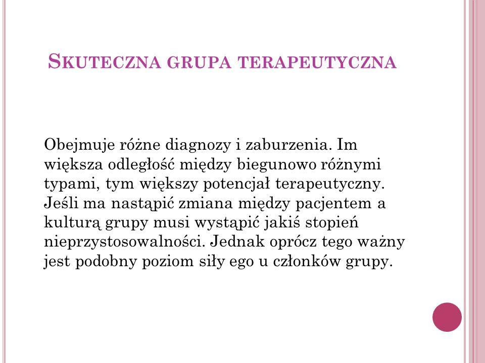 Skuteczna grupa terapeutyczna