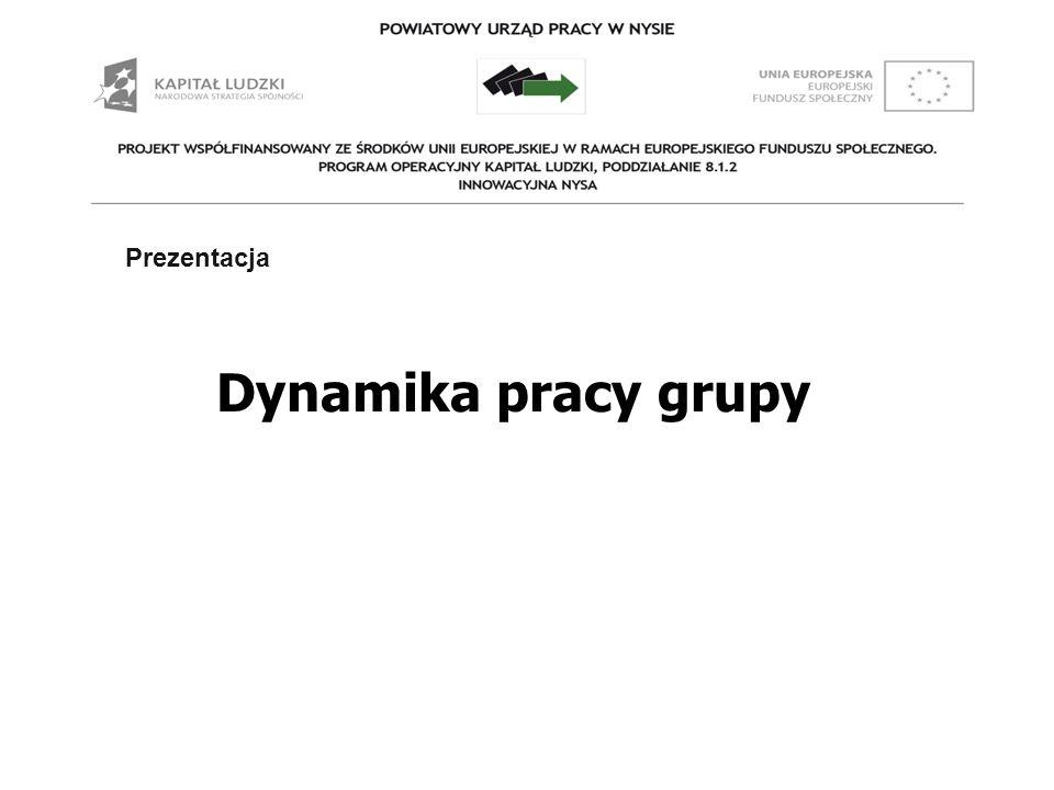 Prezentacja Prezentacja Dynamika pracy grupy 1