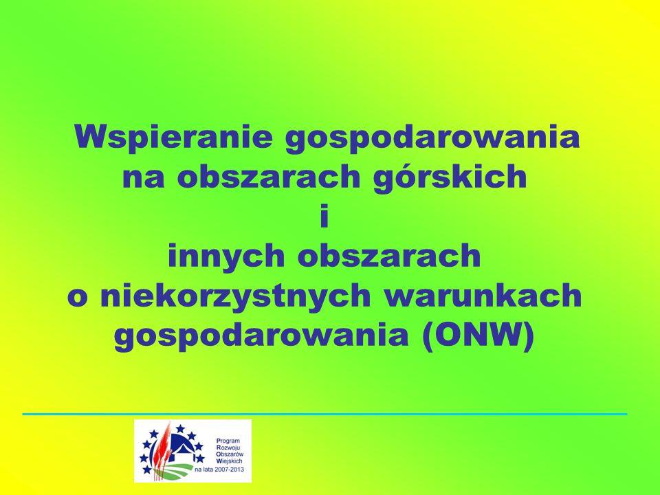 Wspieranie gospodarowania na obszarach górskich i innych obszarach o niekorzystnych warunkach gospodarowania (ONW)