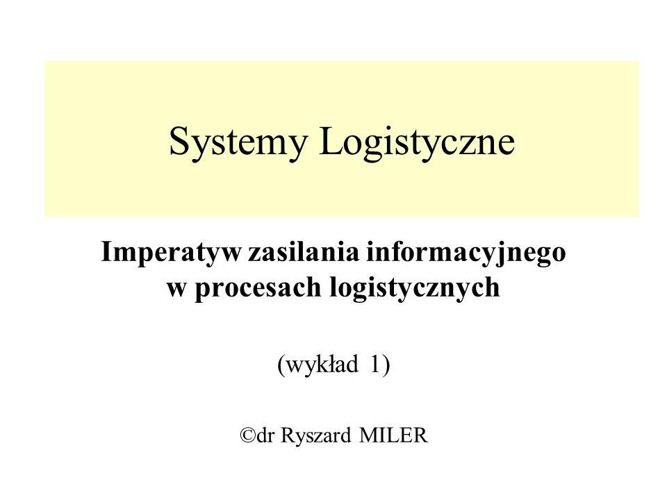 Imperatyw zasilania informacyjnego w procesach logistycznych