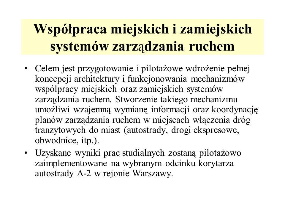 Współpraca miejskich i zamiejskich systemów zarządzania ruchem