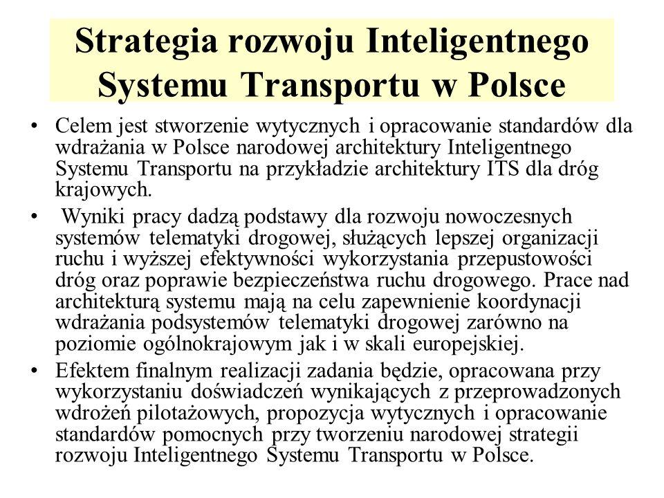 Strategia rozwoju Inteligentnego Systemu Transportu w Polsce