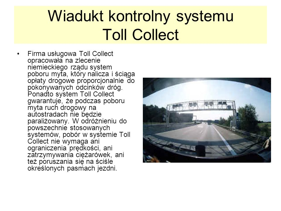 Wiadukt kontrolny systemu Toll Collect