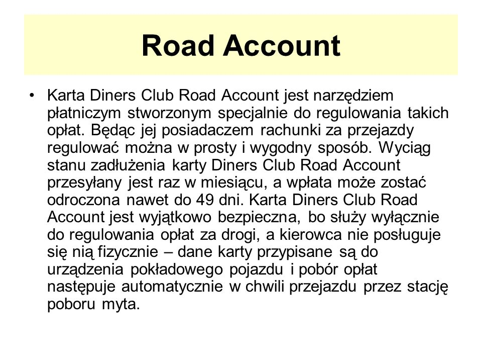 Road Account