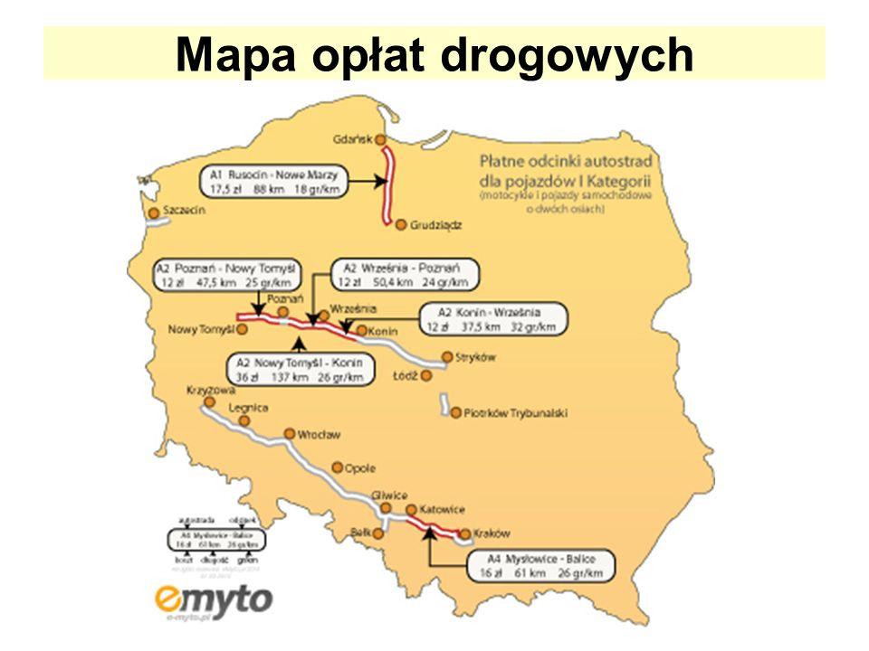 Mapa opłat drogowych