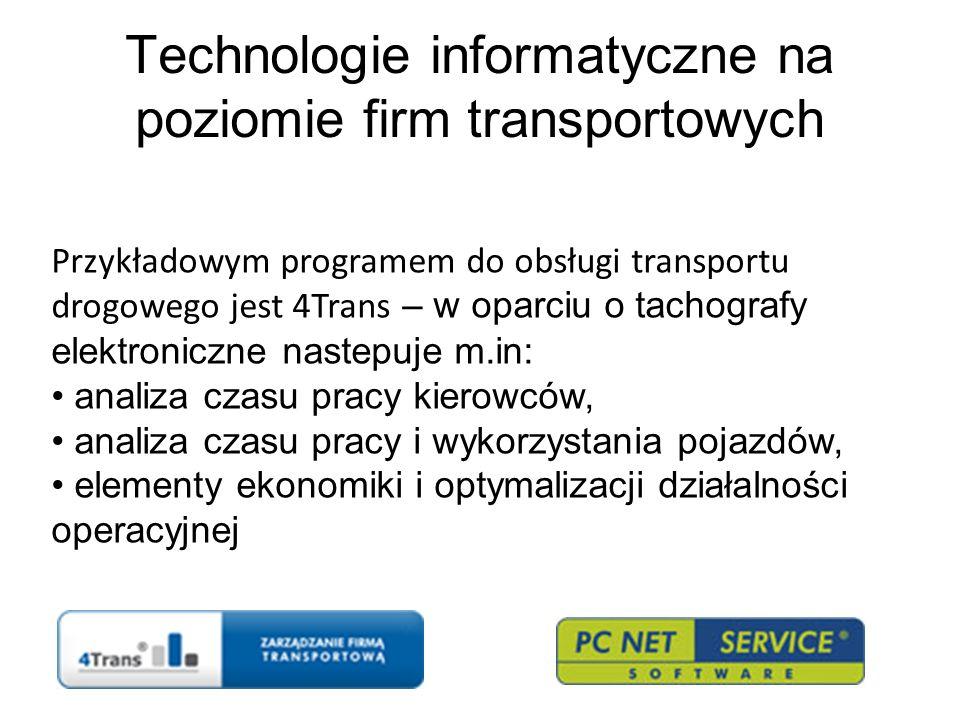 Technologie informatyczne na poziomie firm transportowych