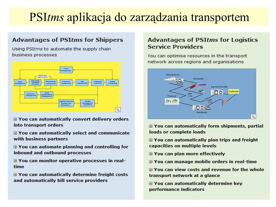 PSItms aplikacja do zarządzania transportem