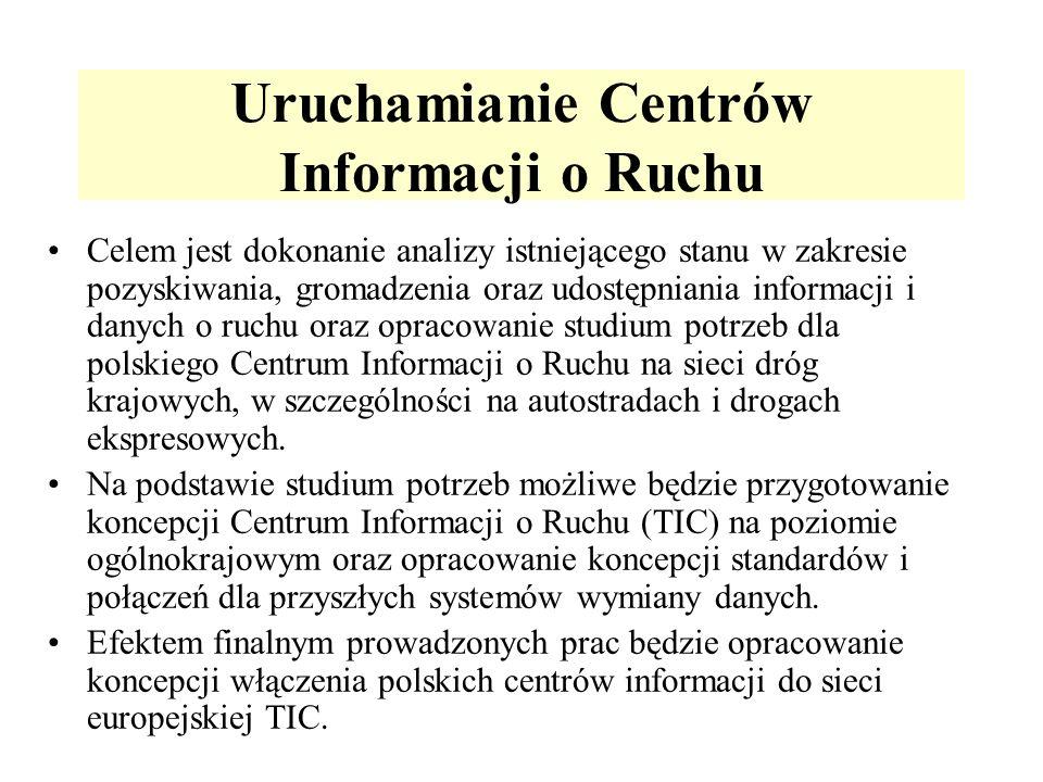 Uruchamianie Centrów Informacji o Ruchu