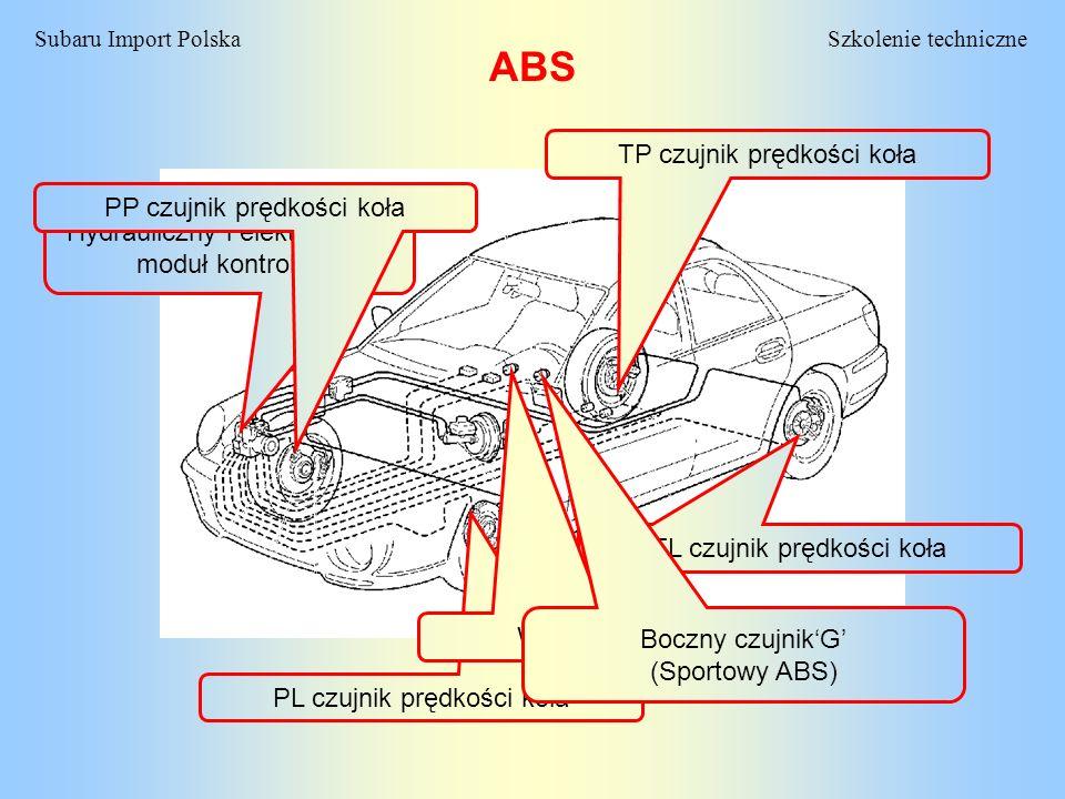 ABS TP czujnik prędkości koła PP czujnik prędkości koła