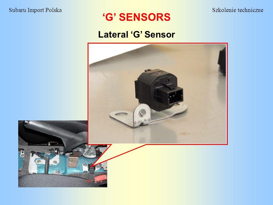 'G' SENSORS Lateral 'G' Sensor
