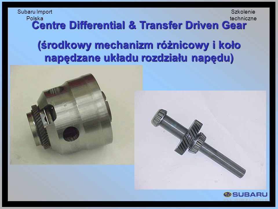 Centre Differential & Transfer Driven Gear