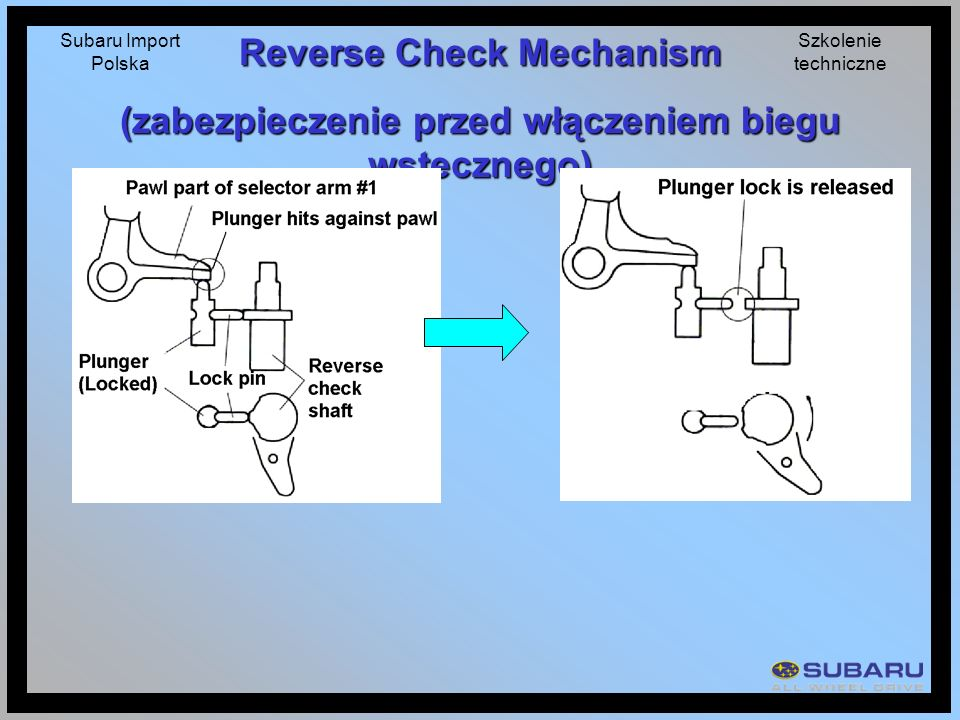 Reverse Check Mechanism