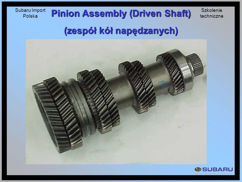 Pinion Assembly (Driven Shaft) (zespół kół napędzanych)