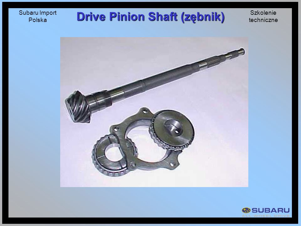 Drive Pinion Shaft (zębnik)