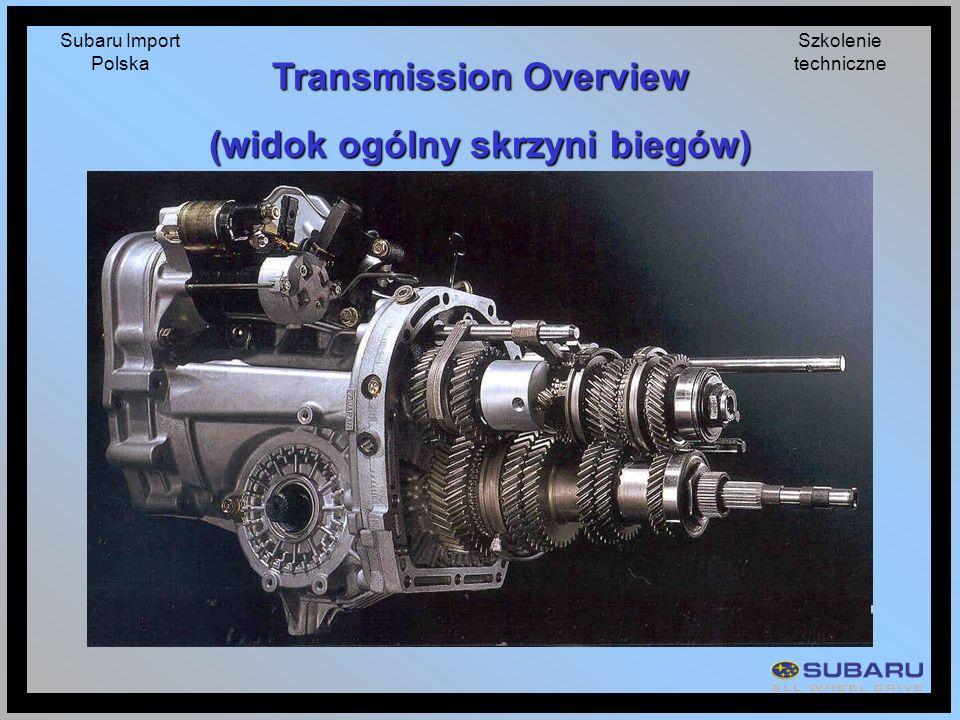 Transmission Overview (widok ogólny skrzyni biegów)