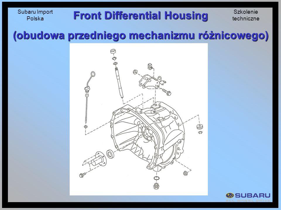 Front Differential Housing (obudowa przedniego mechanizmu różnicowego)
