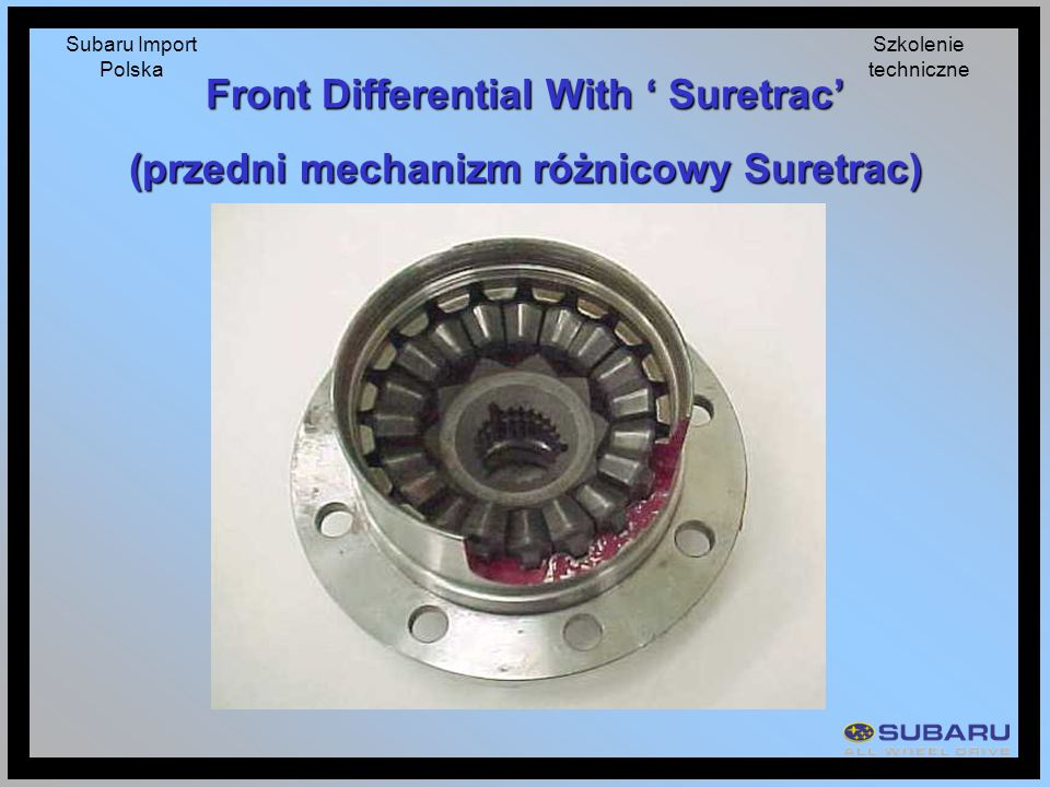 Front Differential With ' Suretrac'