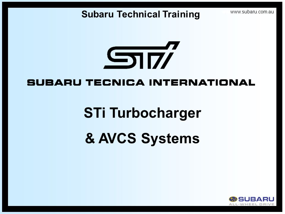 Subaru Technical Training