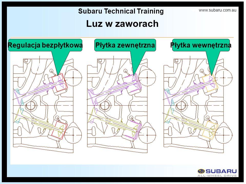 Subaru Technical Training Regulacja bezpłytkowa