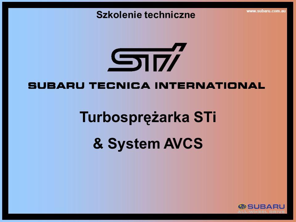 Turbosprężarka STi & System AVCS