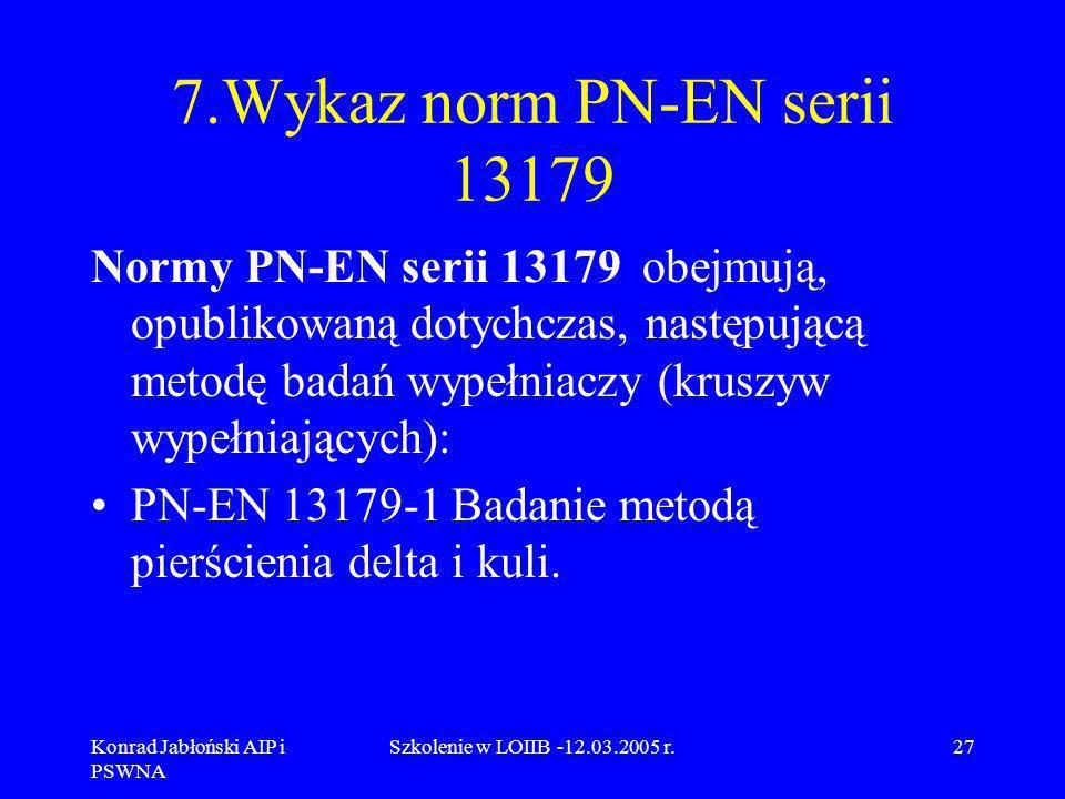 7.Wykaz norm PN-EN serii 13179