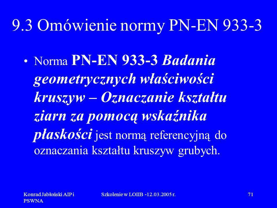 9.3 Omówienie normy PN-EN 933-3