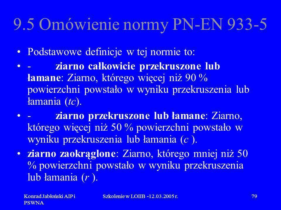 9.5 Omówienie normy PN-EN 933-5