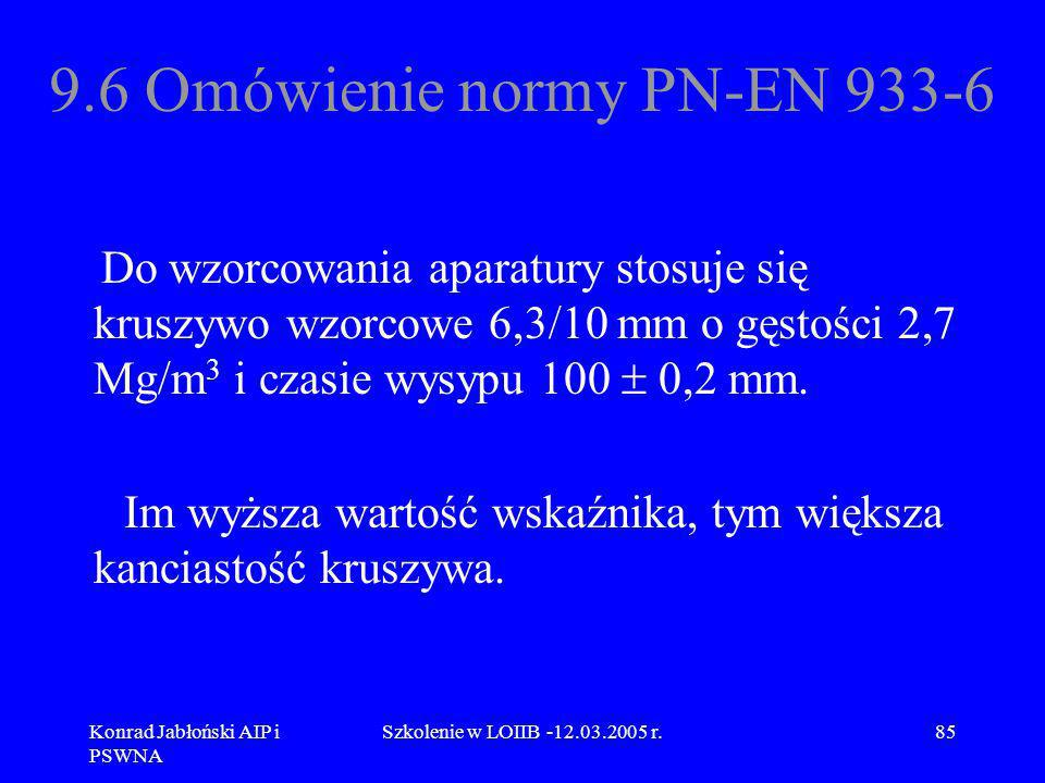 9.6 Omówienie normy PN-EN 933-6
