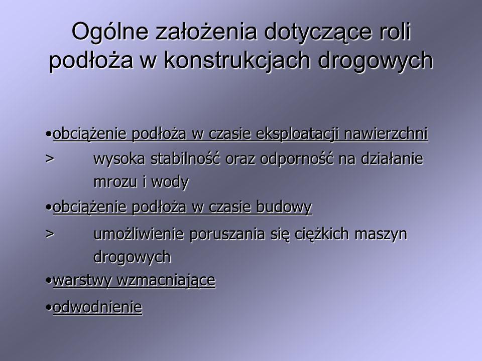 Ogólne założenia dotyczące roli podłoża w konstrukcjach drogowych