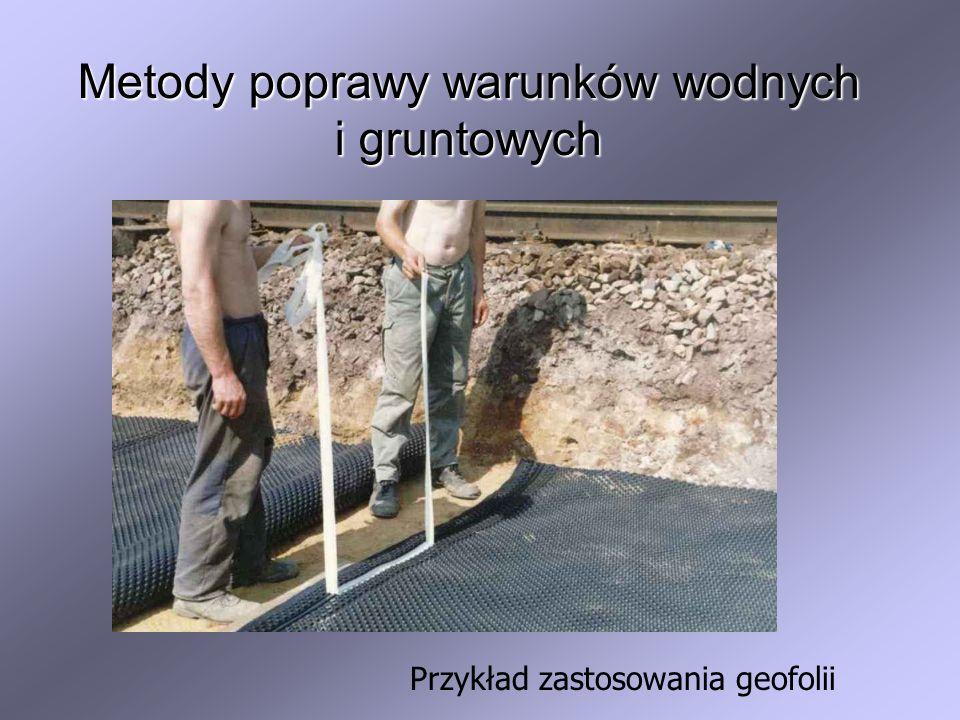 Metody poprawy warunków wodnych i gruntowych