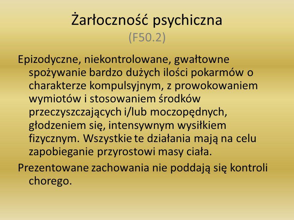 Żarłoczność psychiczna (F50.2)