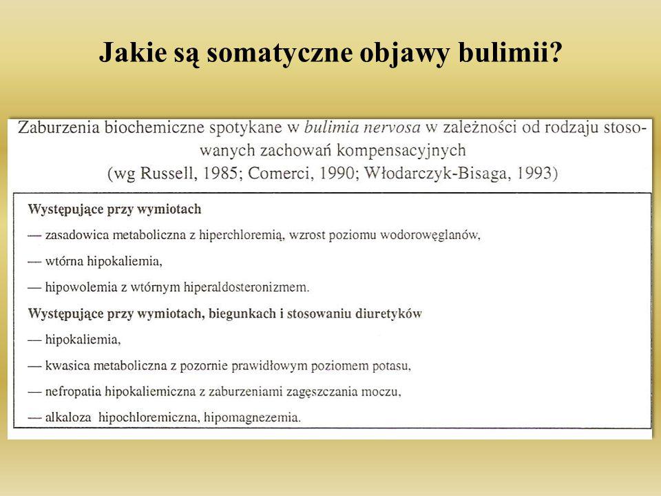 Jakie są somatyczne objawy bulimii
