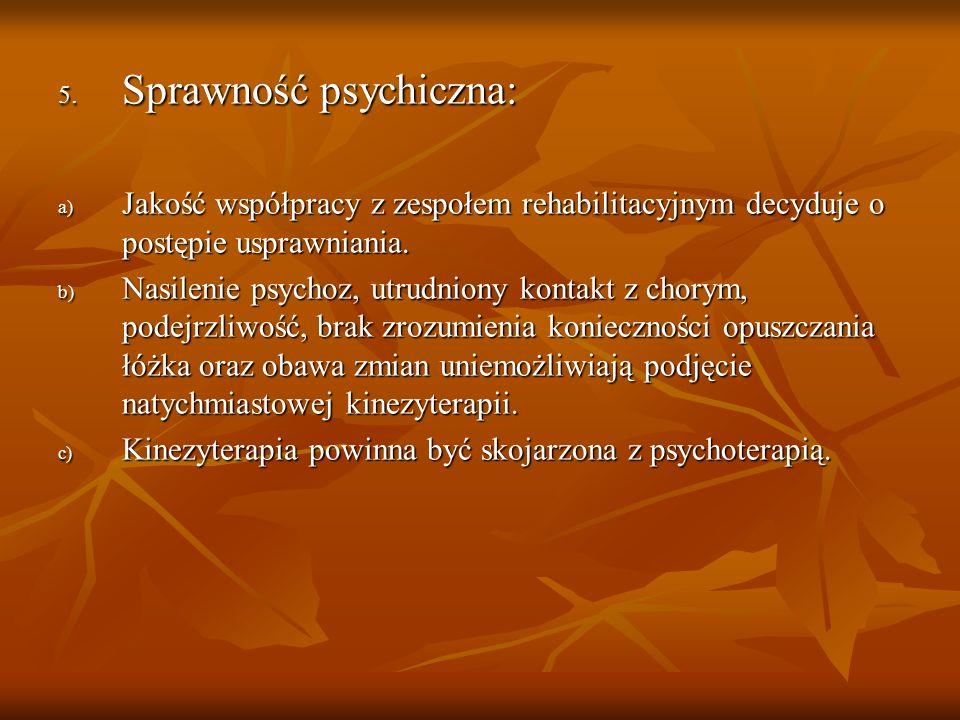 Sprawność psychiczna:
