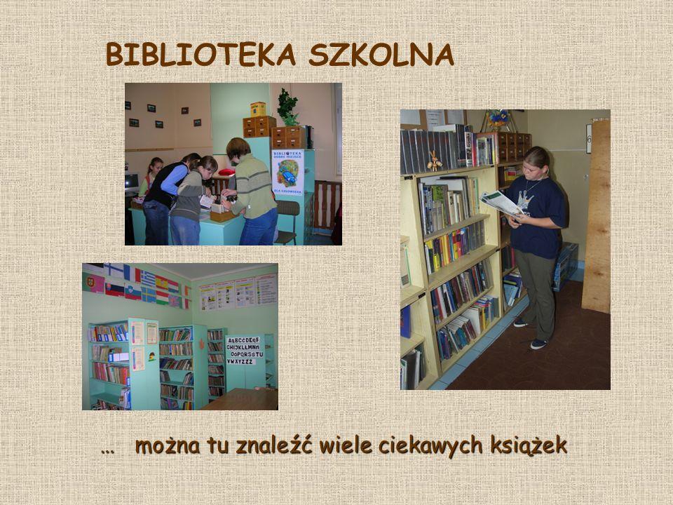 BIBLIOTEKA SZKOLNA … można tu znaleźć wiele ciekawych książek