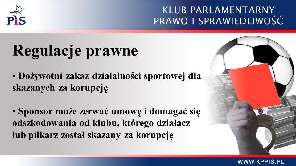 Regulacje prawne Dożywotni zakaz działalności sportowej dla skazanych za korupcję.
