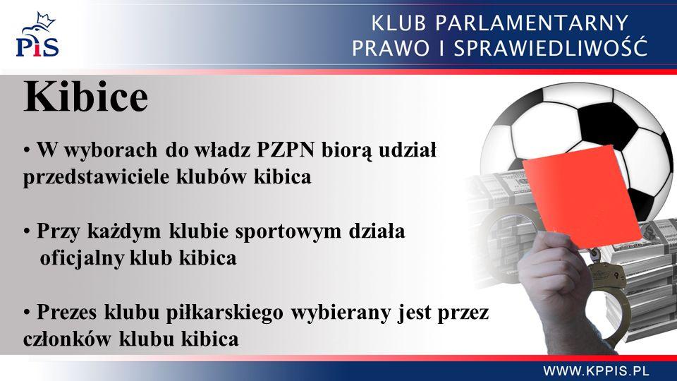 Kibice W wyborach do władz PZPN biorą udział przedstawiciele klubów kibica. Przy każdym klubie sportowym działa.