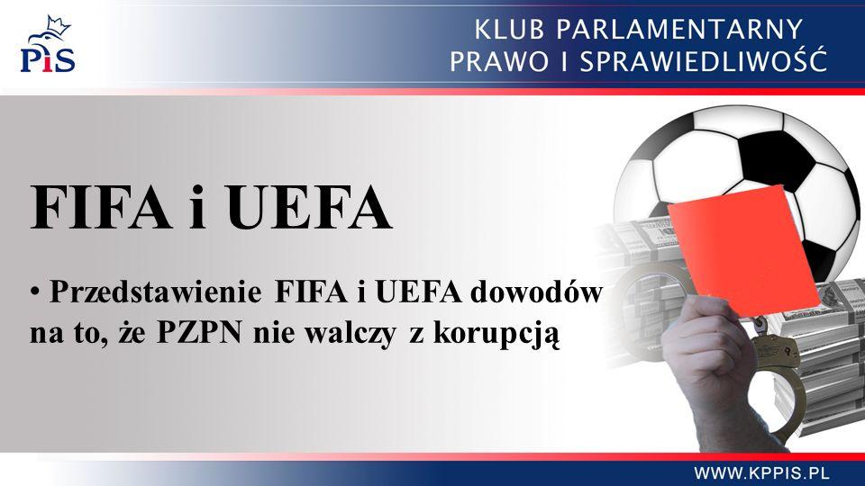FIFA i UEFA Przedstawienie FIFA i UEFA dowodów