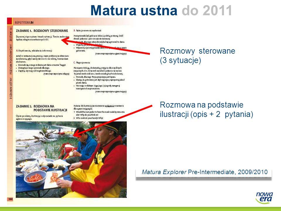 Matura ustna do 2011 do 211 Rozmowy sterowane (3 sytuacje)