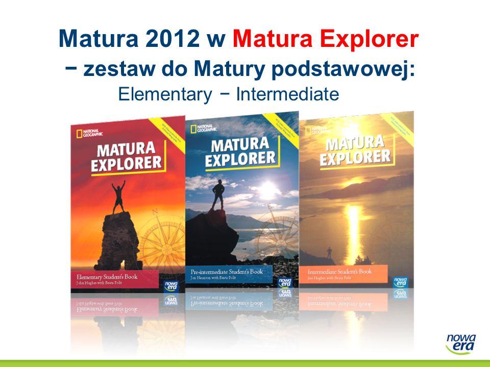 Matura 2012 w Matura Explorer − zestaw do Matury podstawowej: