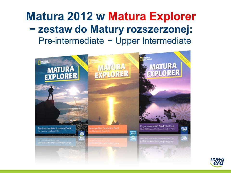 Matura 2012 w Matura Explorer − zestaw do Matury rozszerzonej: